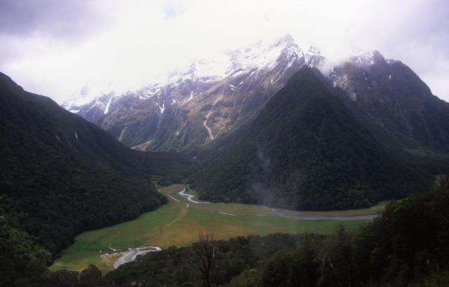 Day 1: View from the trail to Routeburn Falls hut