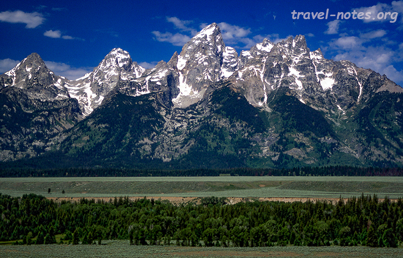Tetons from the snake river overlook