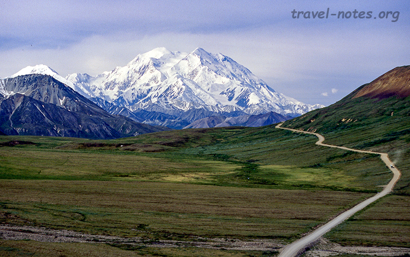 Mt. Denali and the park road from Stony Hill overlook
