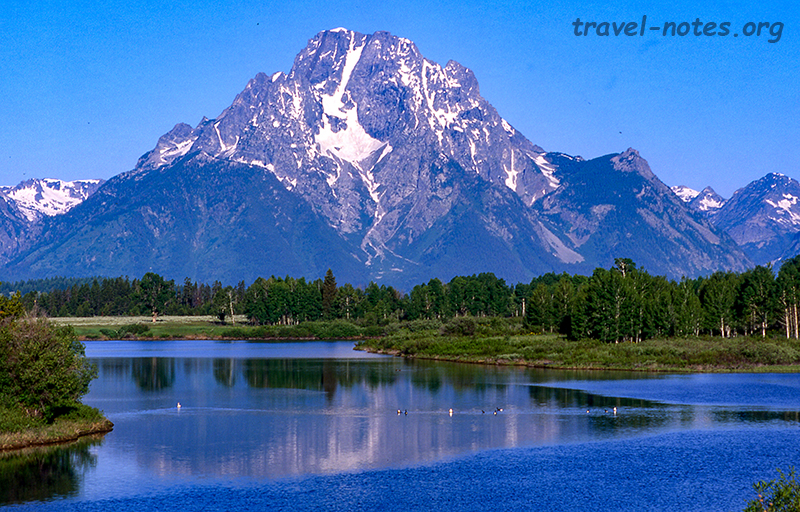Mount Moran from Oxbow Bend Overlook